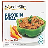 WonderSlim Protein Meal, Sloppy Joe Mix - Low Carb, Low Calorie, Low Fat, 12g Protein (7ct)