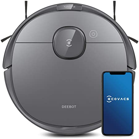 Ecovacs Deebot T8 Robot Vacuum and Mop Cleaner, Precise Laser Navigation, Multi-floor Mapping, Intelligent Object Avoidance, Full-customize clean, No-go and No-mop Zones, Auto-empty Station Compatible