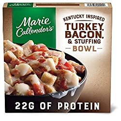 Marie Callender's Frozen Meal, Kentucky Inspired Turkey, Bacon & Stuffing Bowl, Packed with Protein,