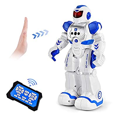 RC Robot for Kids Toy, Programmable Remote Control Smart Robot Intelligent with Infrared Control, Gesture Sensing, Dancing, Singing, Boys Girls Birthday Gift from Cradream
