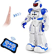 Cradream RC Robots for Kids Toy, Programmable Remote Control Robot Intelligent with Infrared Control & Gesture Sensing, Singing Dancing Robot for Girl Boy Christmas Birthday Gift (Blue)