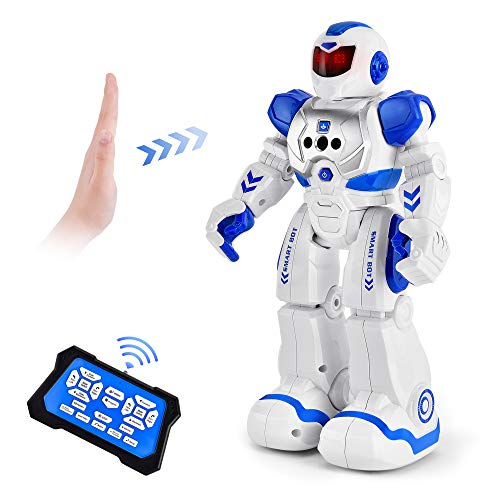 Cradream RC Robot for Kids, Intelligent Toy Robots with Infrared Gesture,Singing Dancing Programmable Robot Remote Control by Girl Christmas Birthday Boy Gift Age 3-8(Blue)