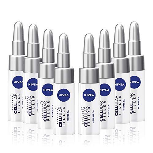 NIVEA Hyaluron Cellular Filler Tratamiento Concentrado 7 Días en pack de 8 (8 x 5 ml), tratamiento facial, ampollas hidratantes con ácido hialurónico, ampollas antiedad