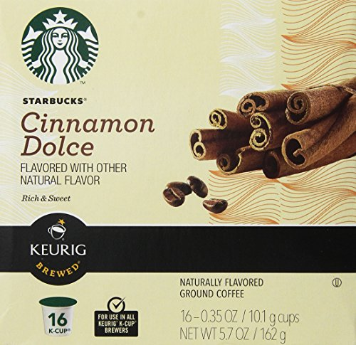Starbucks Cinnamon Dolce Flavored Coffee Keurig K-cups 16 Ct (Pack of 2)