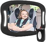 Miroir Auto Bébé Rétroviseur Incassable de Voiture pour Voir Enfant Rétroviseur de Surveillance Miroir Siège Arrière de...
