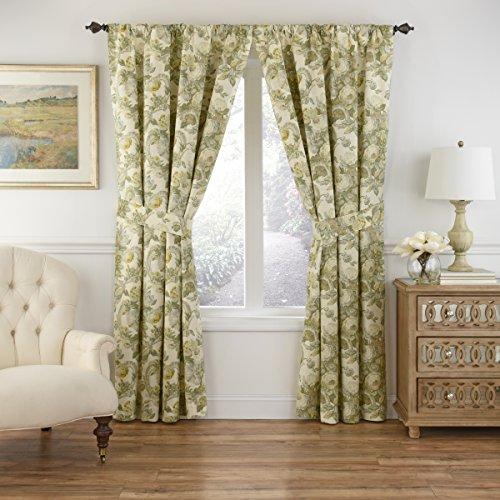 Waverly Spring Bling-Rod Pocket Curtains for Living Room, Single Panel, 63x52, Platinum