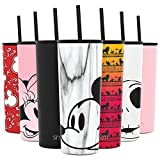 Simple Modern Disney 24oz Classic Tumbler with Straw Lid & Flip Lid - Travel Mug Gift Vacuum Insulated Coffee Beer Pint Cup - 18/8 Stainless Steel Water Bottle Disney: Mickey on Marble