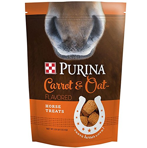 Horse | Purina Carrot and Oat Flavored Horse Treats, 2.5 lb Bag, Gym exercise ab workouts - shap2.com