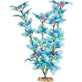 Petco Brand - Imagitarium Fiesta Silk Blue Aquarium Plant, 12' L X 4' W, Large