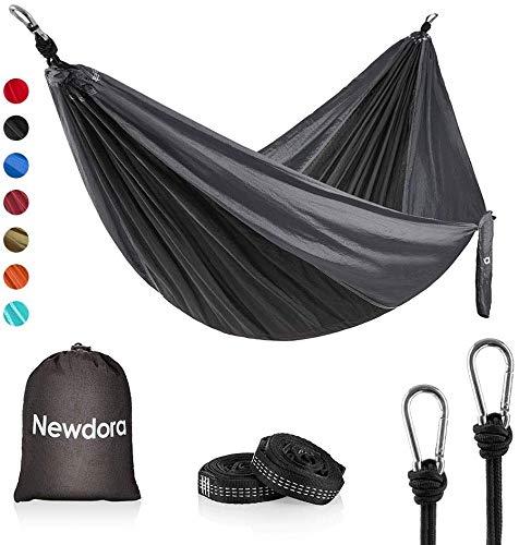 Newdora Camping Hammock - Lightweight Nylon Portable Hammock, Best Parachute Double Hammock for Backpacking, Camping, Travel, Beach, Yard. 105'(L) x 56'(W)