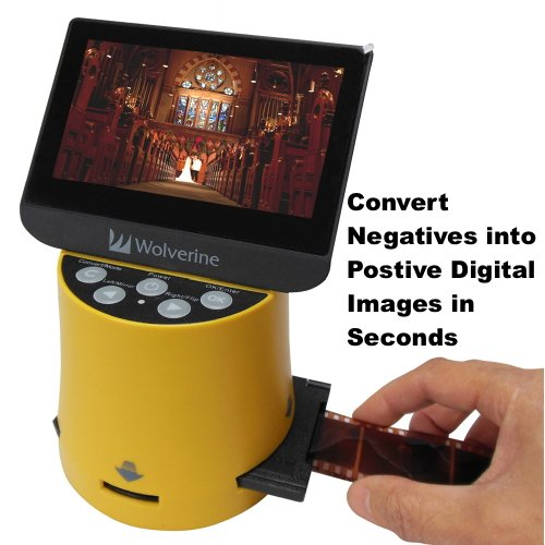 Wolverine Titan 8-in-1 20MP High Resolution Film to Digital Converter with 4.3