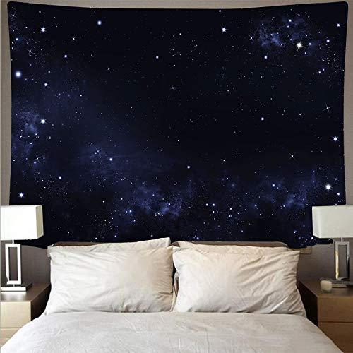 KHKJ Misterioso Universo Espacio Cielo Estrellado Gran Arte Tapiz psicodélico Colgante de Pared Toalla de Playa Manta A3 95x73cm