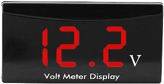 Sangmei Medidor de painel de exibição de LED digital 12V Voltímetro para carro Medidor de voltagem de motocicleta Medidor ...
