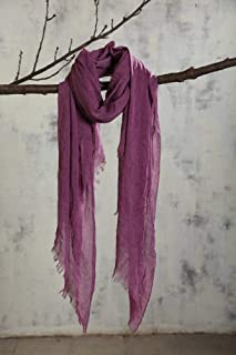 Fall & Winter Color Cotton Scarves in Autumn & Winter Scarves Female Pure Color Soft Scarves, houseHold, Amethyst