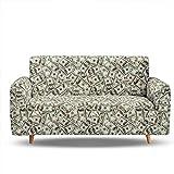 HXTSWGS Suave Funda de sofá para Sala de Estar,Sofa Cover, Covers for Sofa,Sofa Bed Covers Sofa, Cover Elastic Elasticated Sofa Covers, Couch Cover-BIX1_4-Seater 235-300cm