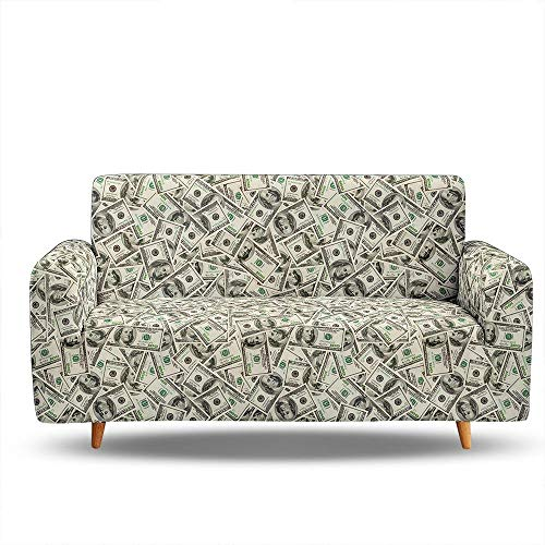 HXTSWGS Funda de sofá con Jacquard,Sofa Cover, Covers for Sofa,Sofa Bed Covers Sofa, Cover Elastic Elasticated Sofa Covers, Couch Cover-BIX1_1-Seat 90-140cm