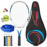 Chunjiao Raquette de Tennis Enfants Head Carbone Débutant Simple Costume Tennis Racket spécial garçon et Une Fille Cadeau (Color : Red and White, Size : 23 inches)