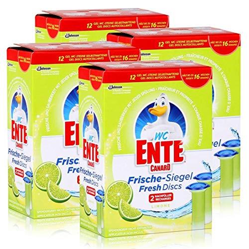 4x WC Ente Frische Siegel Nachfüller Limone