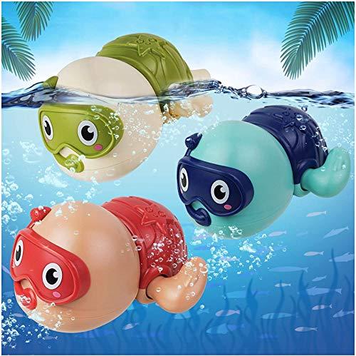 AOLUXLM Juguetes de Baño para Bebés de 1 Año, Aparato de Relojería Juguetes de Tortuga para Niños, 3 Packs Juguetes de Baño Juguetes de Agua para Niños