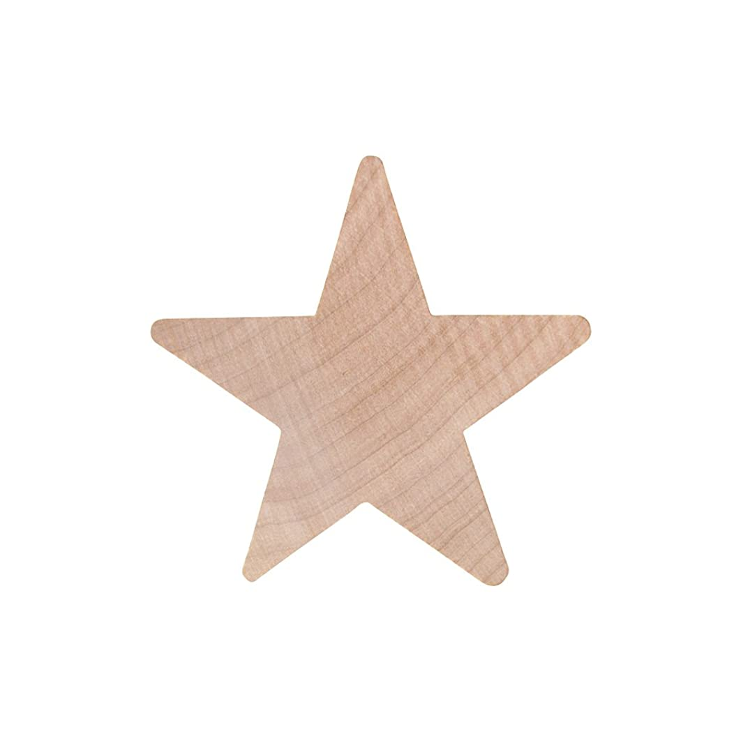 """Wood Star 2"""", Bag of 25 Unfinished Wooden Star Cutout Shape – by Woodpeckers"""