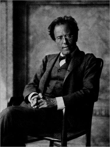 Poster 30 x 40 cm: Gustav Mahler von Austrian Photographer/Bridgeman Images - hochwertiger Kunstdruck, neues Kunstposter