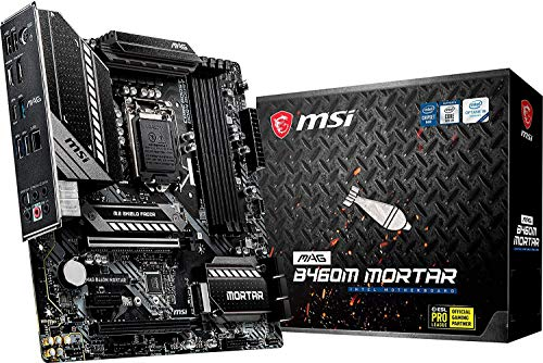 MSI - MAG B460M Mortar - Placa Base Arsenal Gaming (10th Gen Intel Core, LGA 1200 Socket, SLI/CF, Doble Ranura M.2, 2.5G LAN, DP/HDMI)