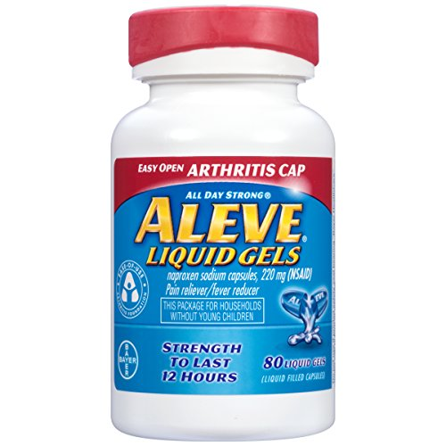 Aleve Liquid Gels with Easy Open Arthritis Cap, Naproxen Sodium, 220mg (NSAID) Pain Reliever/Fever Reducer, 80 Count