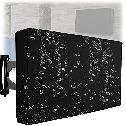 Cubierta de TV Impermeable al Aire Libre para TV de jardín con Bolsillo para Control Remoto Se Adapta a la mayoría de Soportes y Soportes de TV (Tamaño: para TV de 22-70 Pulgadas)