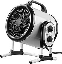 LJ Calefactor Industrial Calefactor de Invernadero con Termostato Ajustable, 2 Potencias de Calor, Potencia 3000W, Protección IPX4 para apartamento, Taller, Garaje