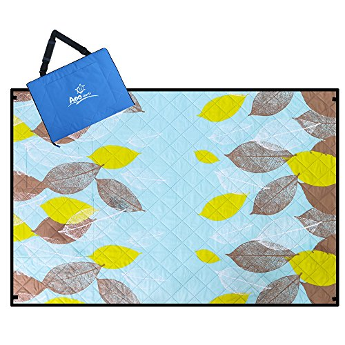 Aoosborts Pine Picnic Blanket Water Resistant, Beach Blanket Sand Proof, Wind Proof with Stakes,Machine Washable Outdoor Blanket Mat