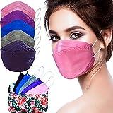 Cussi - 10x/20x Mascarilla Protectora FFP2 NR Adulto 5 capas Colores Variados (forma de Pez) + Mask Case color aleatorio (10)