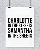 Hippowarehouse Charlotte In The Streets Samantha In The Sheets Cartel Impreso Pared Arte Pared diseño A4