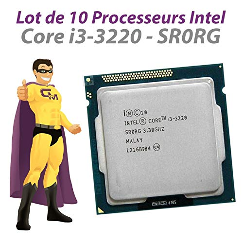 Intel - Lote de 10 procesadores Core i3-3220 3.3Ghz 3MB SR0RG 5GT/s FCLGA1155