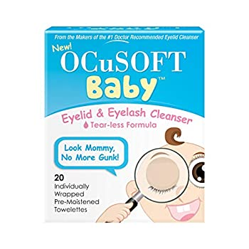 OCuSOFT Baby Eyelid and Eyelash Cleanser Pre-Moistened Towelette 20 Count
