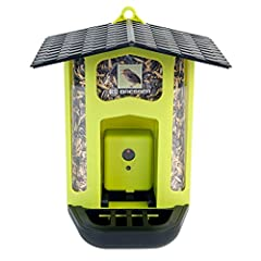 Photograph Wild brids feeding Full color images Motion sensor Activated Download and view images on your Mac or pc Rechargeable Battery & cables included