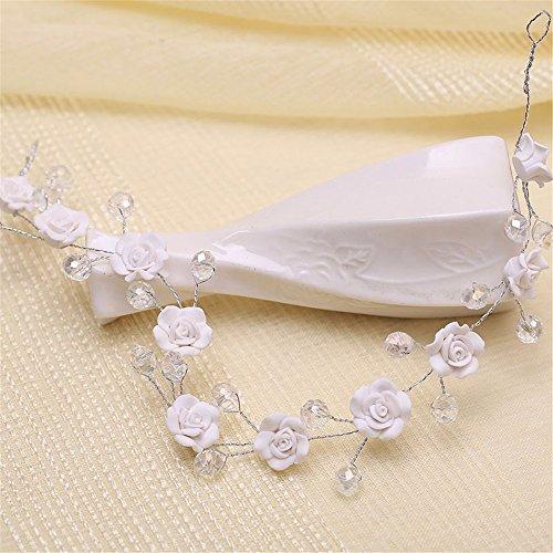MultiKing hoofdtooi voor bruid, zacht, roze, huwelijk, kristal, kort haar, Koreaans, bruiloft, bruidsjurk, haaraccessoires
