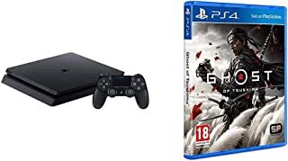 PS4 - 500 GB F Chassis, Black + Ghost of Tsushima - Standard - PlayStation 4
