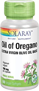 Solaray Oil of Oregano 150 mg | Extra Virgin Olive Oil Base | Whole Aerial | Healthy Immune & Intestinal Flora Support | V...