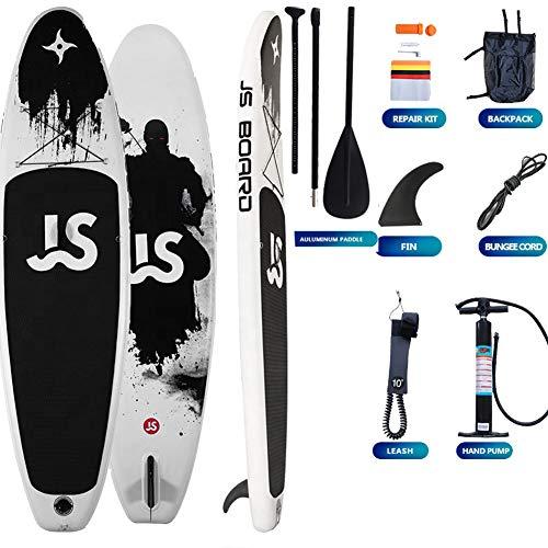 QDWRF Sup Stand Up Paddle Board, Sup Paddle Board Surfboard Stand-Up Board Tabla Hinchable para Adultos Principiantes/Intermedio Carga Máxima 150 Kg