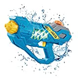 LSAMA Water Gun Battery Operated for Child & Adult, Super Soaker 300CC Capacity, Automatic Squirt Gun for Kids Pool Toys Outdoor Toys (Blue)