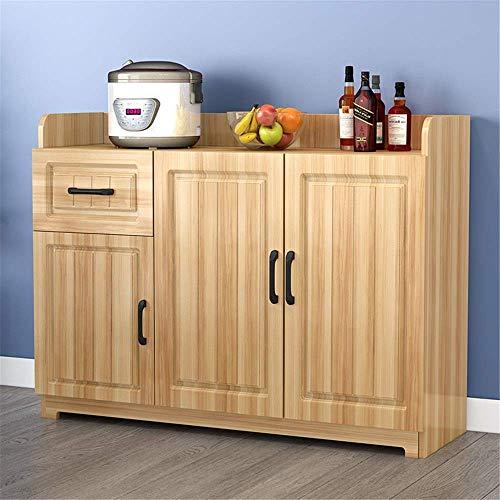 Living Equipment Table basse pour salon Buffet Armoire de rangement Buffet Serveur Buffet Console Table Table de salle à manger en bois Armoire avec armoires Cuisine 1 tiroir (Couleur: Blanc Taille