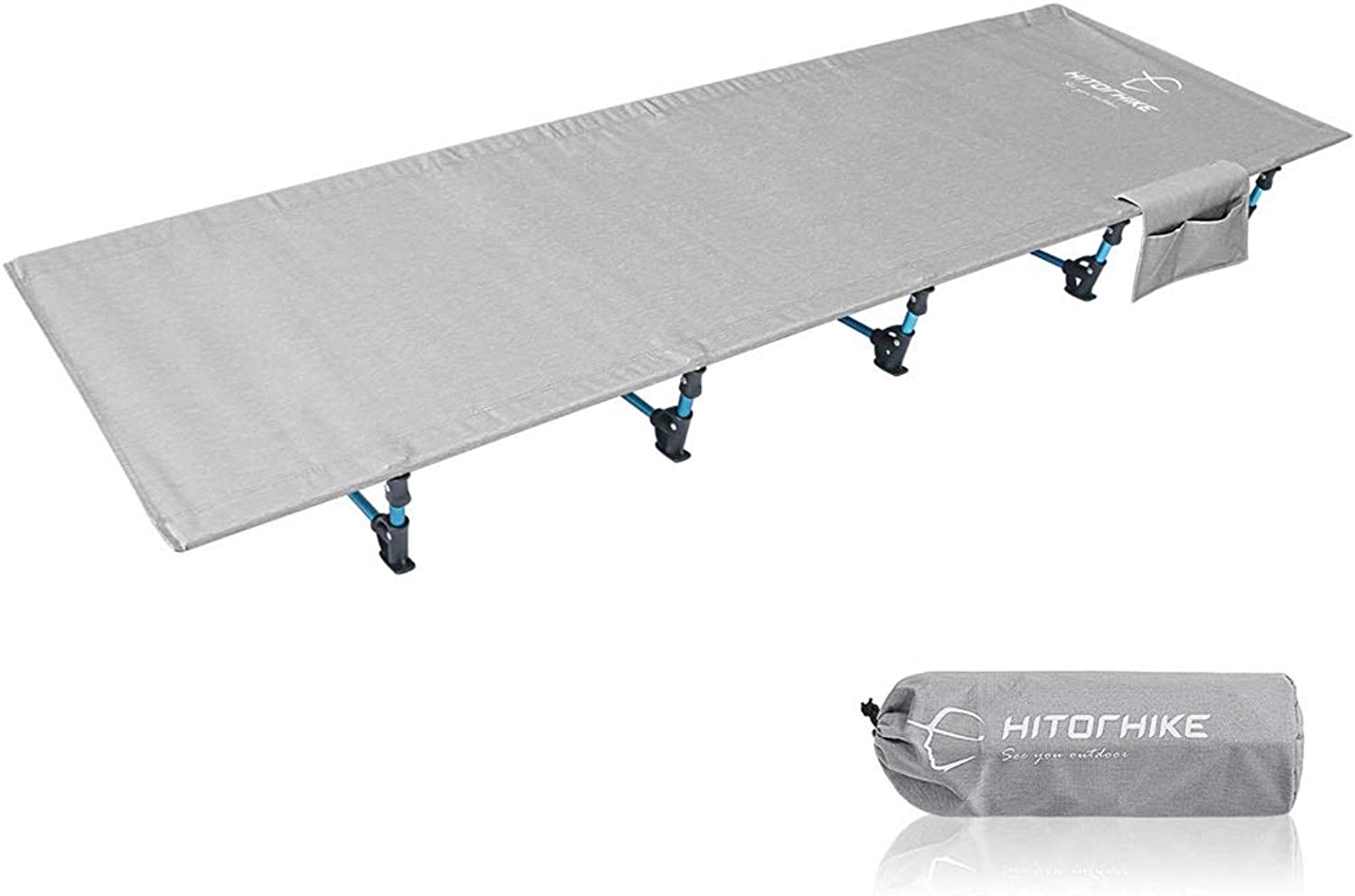 Folding Bed Folding Hiker Ultra Lightweight Travel Outdoor Aluminium Alloy Sleeping Bed for Camping Hiking Fishing Living Room Office Furniture (color   Silver, Size   190  70  17cm)
