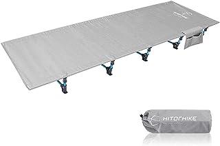 ZzheHou Lit Pliant Lit De Camping Pliant en Plein Air Lit De Camping en Aluminium Super Léger Facile À Ranger (Color : Sil...