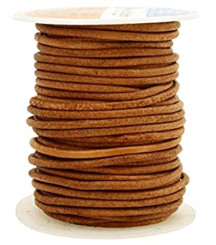 Mandala Crafts Round Cowhide Genuine Leather String Cord Natural Rawhide Rope for Jewelry Making Kumihimo Braiding Shoelaces  3mm Rust