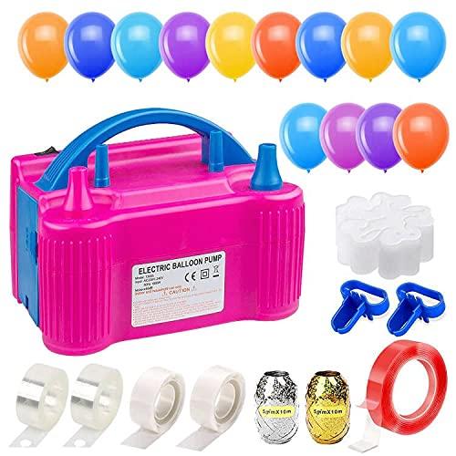 Icnow Inflador de globo eléctrico, bomba de globo hinchable eléctrica, 600 W,...