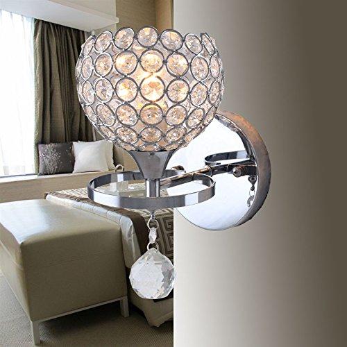 FAYM-Wandleuchte Moderne Wandleuchten home Ort Kreative led lampe Kristall kunstvoll verzierte Bettkopfteile Wandleuchte, 100mm