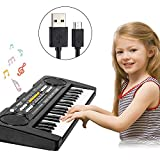 Shayson Clavier de Piano Enfants,37 Touche Enfants Piano Clavier avec câble USB...