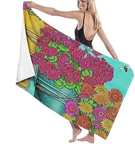 Telo mare Asciugamani stampati accolgono gli amici asciugamani da bagno margherita simpatici e squisitamente stampati coperta per doccia per adolescenti portatile b