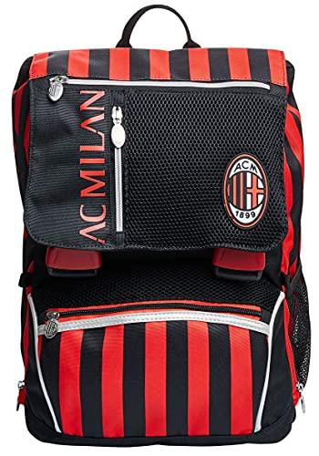 Seven Zaino Estensibile Milan, Winners Club, Rosso e Nero, Scuola e Tempo Libero, Con Pallone Abbinato