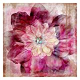 Bilderwelten Fotomural - Grunge Flower - Mural cuadrado papel pintado fotomurales...